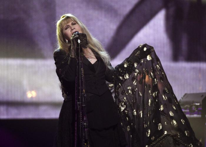 Stevie Nicks performs at the Rock & Roll Hall of Fame induction ceremony in New York.