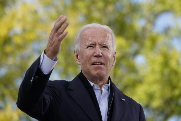 Democratic presidential candidate former Vice President Joe Biden speaks during a campaign event at Riverside High School in Durham, N.C.