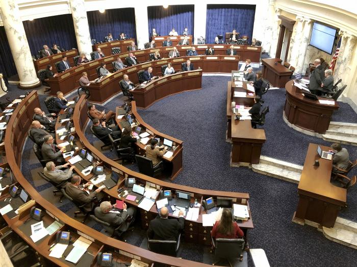 Idaho House of Representatives debates legislation in the Idaho Statehouse in Boise, Idaho.