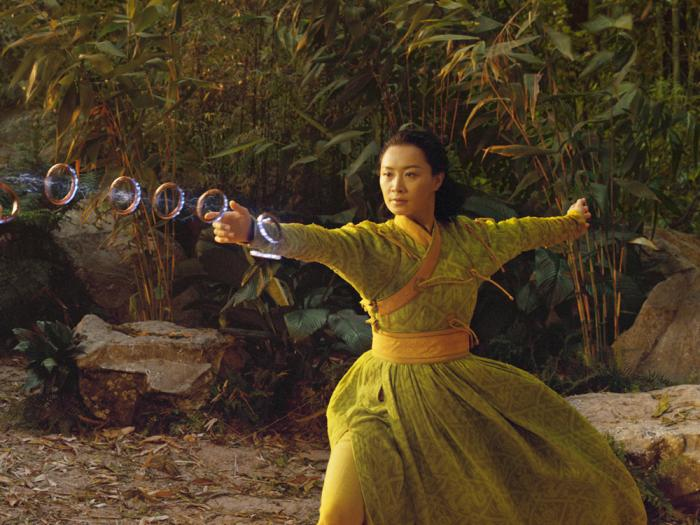 """This image released by Marvel Studios shows Fala Chen in a scene from """"Shang-Chi and the Legend of the Ten Rings'"""