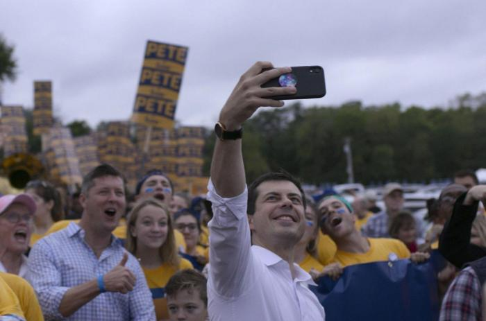 """A still from the documentary """"Mayor Pete"""""""