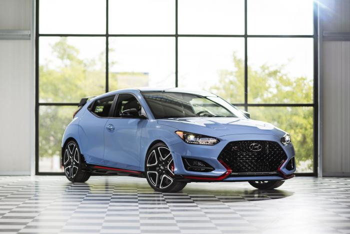 This photo provided by Hyundai Motor America shows the Hyundai Veloster N, a relative newcomer in the hot hatch segment
